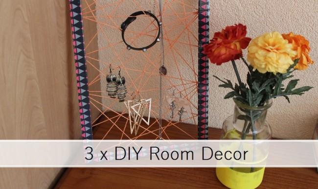 3 x diy room decor