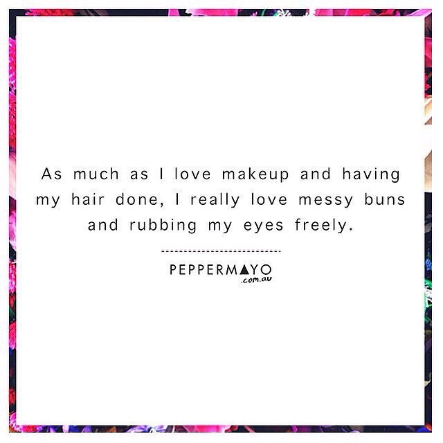 Iedere dag weer dat dilemma #quote #girl #makeup #messybun #nomakeup