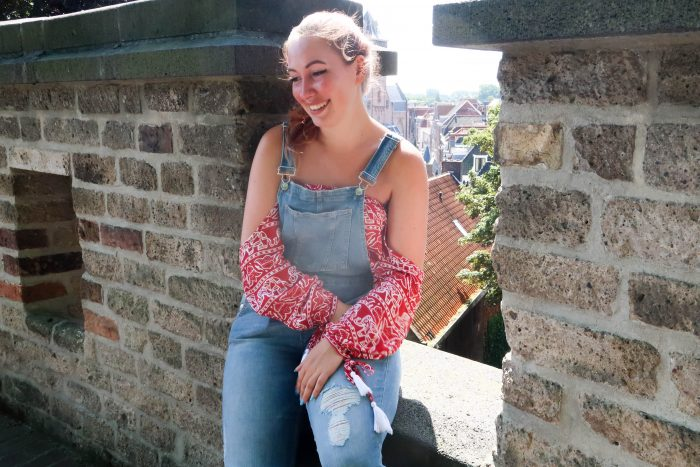 Outfit - Elephants and dungarees